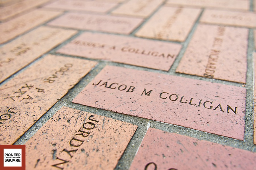 Named Bricks - The named bricks, which pave the Square
