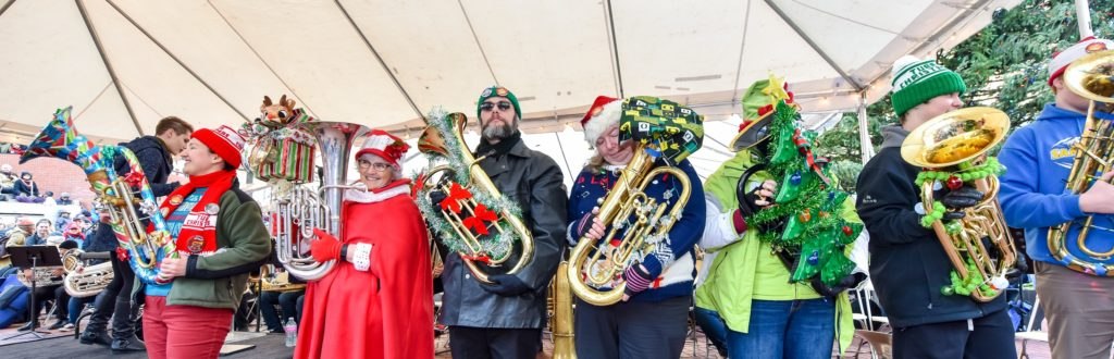 28th Annual Tuba Christmas Concert @ Pioneer Courthouse Square | Portland | Oregon | United States