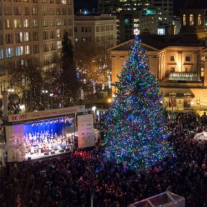 34th Annual Tree Lighting Ceremony - Pioneer Courthouse Square