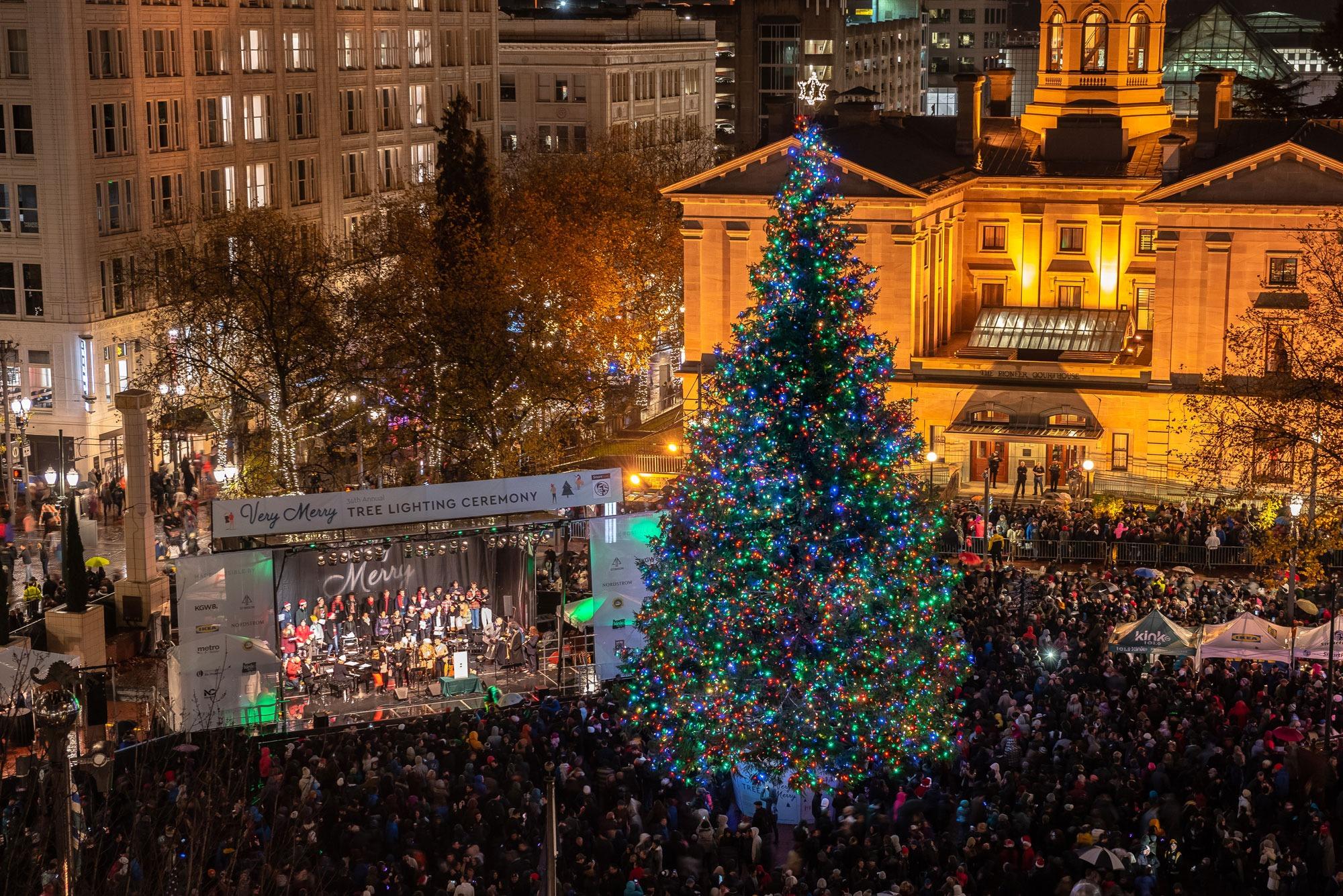 Pioneer Square Christmas Tree Lighting 2020 35th Annual Tree Lighting Ceremony presented by SmartPark