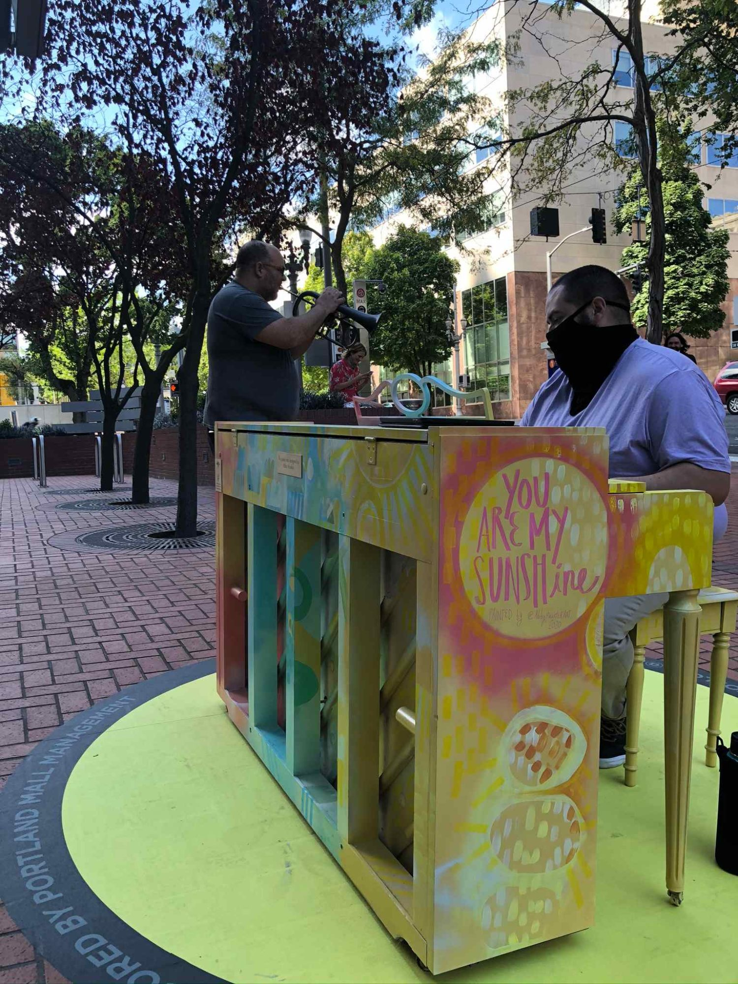 Piano Push Play on the Transit Mall