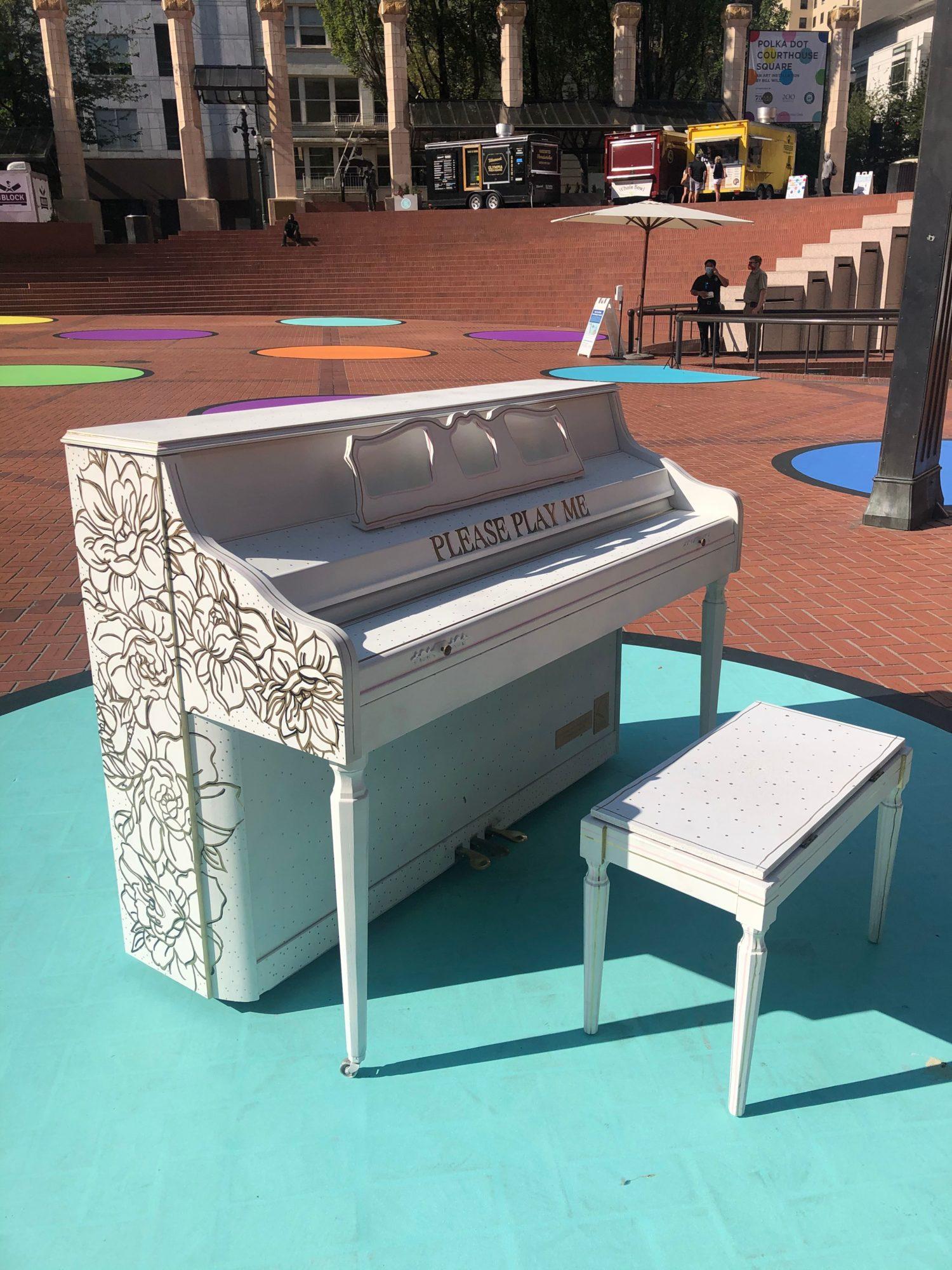 Piano Push Play at Polka Dot Courthouse Square